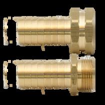 Male & Female Brass Long Shank Couplings - Set
