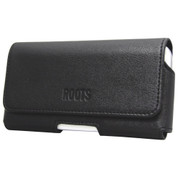 Roots XL Leather Pouch | Front