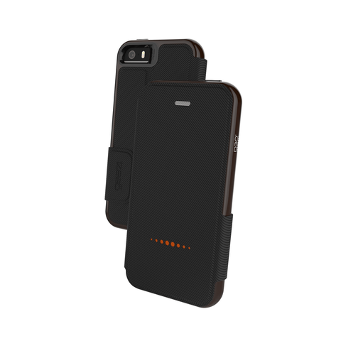 iPhone 5/5S/SE Gear4 D3O Black BookCase