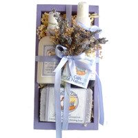 Foxhollow Herbs Herbal Lotion, Mist, and Soap Crate Gift Set