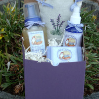 Foxhollow Herbs Purple Carriage Gift Box