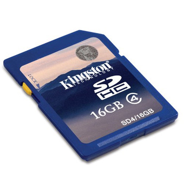 Kingston SDHC 16GB Class 4 Flash Memory Card
