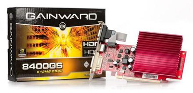 Gainward - 8400GS 450MHZ Graphics Card 256MB DDR2 VGA/DVI
