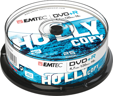 Emtec DVD +R Disc Recordable 4.7GB 16x Cake Case (25 Pack)