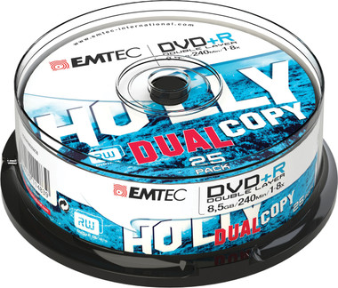 Emtec DVD +R Disc Recordable DL 8.5GB 1-8x Cake Case (25 Pack)