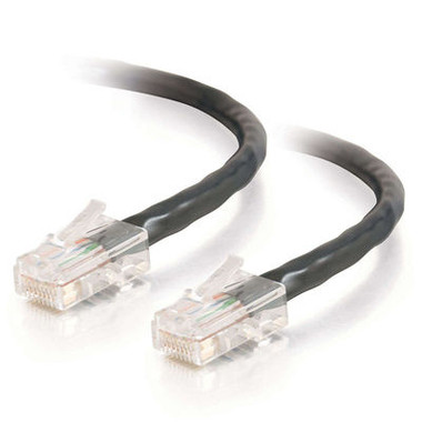 C2G 0.5m Cat5E 350MHz Non-Booted Assembled Patch Cable - Black