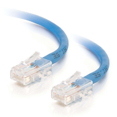 C2G 0.5m Cat5E 350 MHz Crossover Patch Cable - Blue