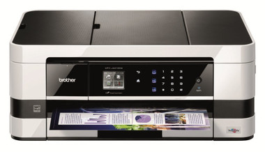 -Brother MFC-J4410DW A4 Inkjet All-In-One Wireless Printer, Scanner, Copier and Fax with A3 Capabilities