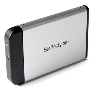 2.5in Silver USB 2.0 to IDE External Hard Drive Enclosure