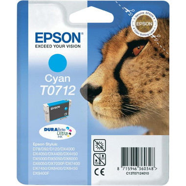 Epson T0712 - Print cartridge - 1 x cyan
