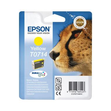 Epson T0714 Print cartridge - 1 x Yellow