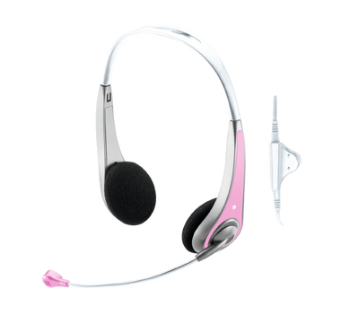 Trust InSonic Chat Headset - Pink