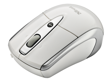 Trust Retractable Laser Mini Mouse for Mac - White