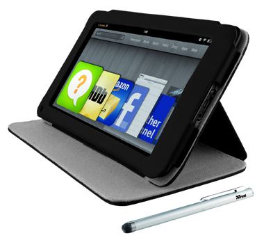 Trust Folio Stand & Stylus For Kindle Fire