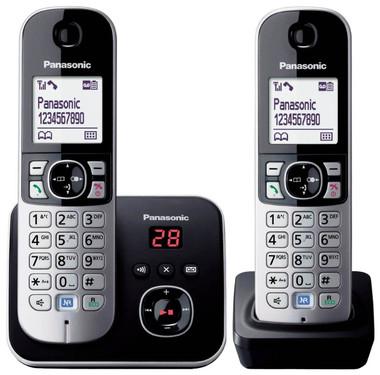 Panasonic KX-TG6822EB Twin DECT Cordless Telephone Set with Answer Machine