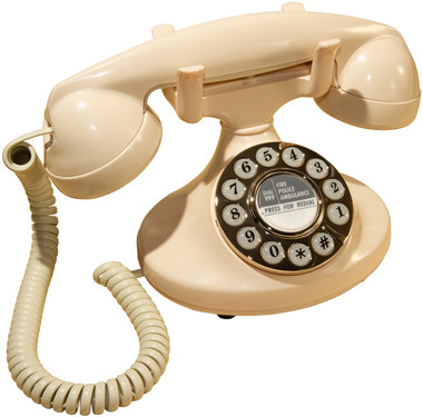 Protelx GPO Pearl Classic Retro Corded Telephone - Ivory