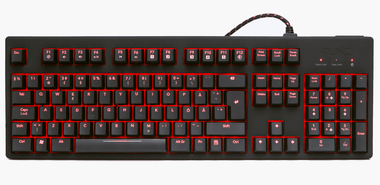 -Func KB-460 Gaming Keyboard UK Layout MX Red (PC DVD)
