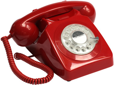 GPO 746 Classic Rotary Telephone (Red)