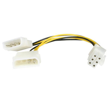 StarTech 6 inch LP4 to 6 Pin PCI Express Video Card Power Cable Adapter