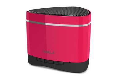 iWalk Sound Angle Mini Rechargeable Bluetooth Speaker - Hot Pink (with SD card slot)