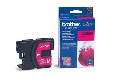 Brother LC980M Genuine Ink Cartridge - Magenta