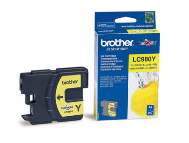 Brother LC980Y Genuine Ink Cartridge - Yellow