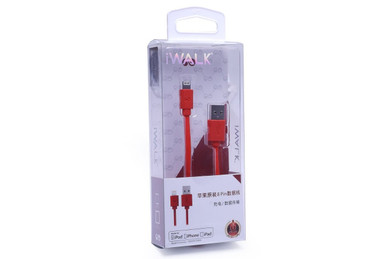 iWalk Apple Liscened Lightening to USB Cable - Charge / Sync (Red)