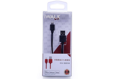 iWalk Apple Liscened Lightening to USB Cable - Charge / Sync (Black)