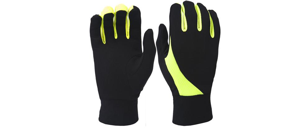TrailHeads Elements Running Gloves - black / hi-vis