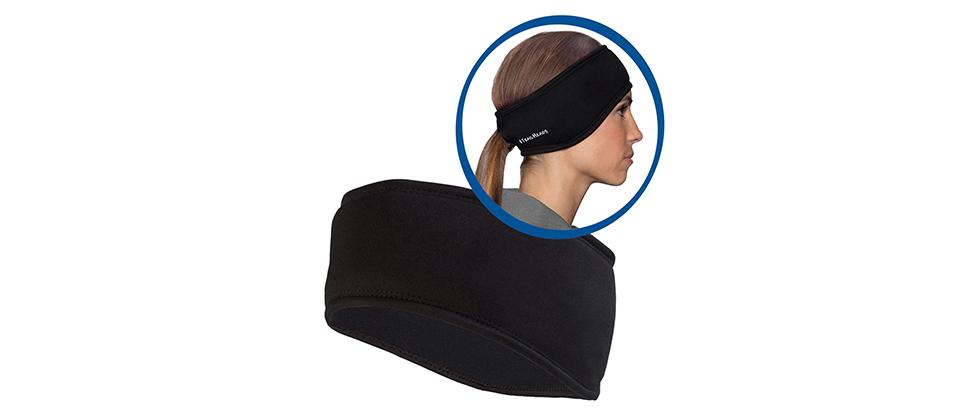 Women's Power Ponytail Headband - black