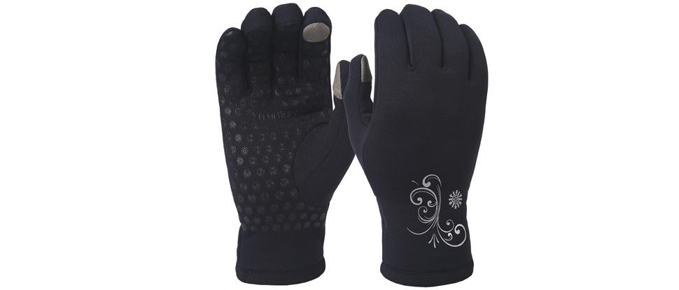 TrailHeads Power Stretch Women's Running Gloves - black