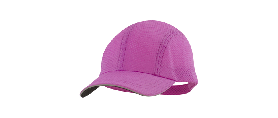 Our race day running cap in radiant purple