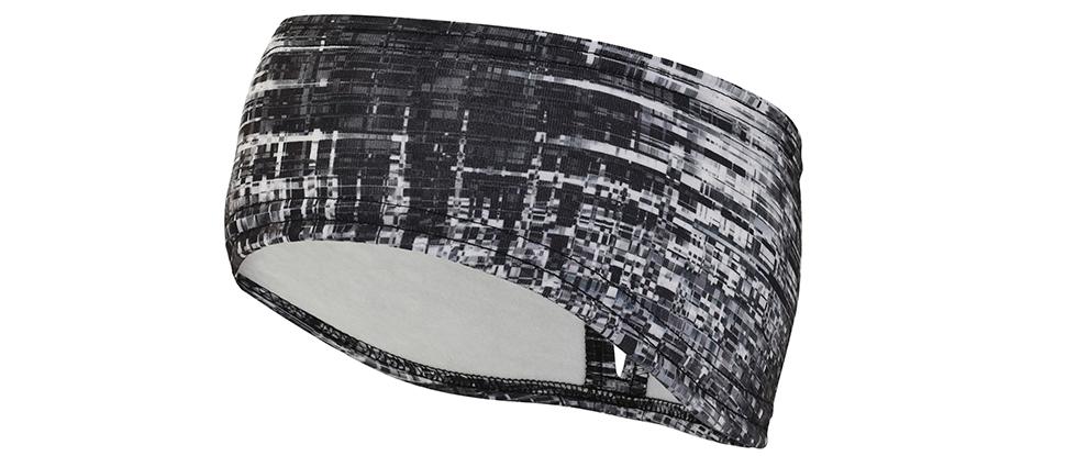 Women's Print Ponytail Headband - grey matrix