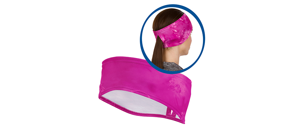 TrailHeads Women's Print Ponytail Headband - pink splash