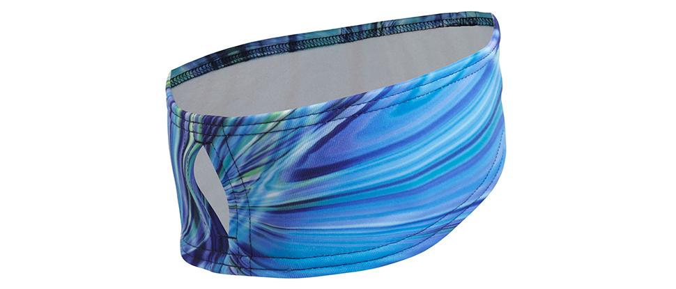 Women's Print Ponytail Headband - deep dive blue