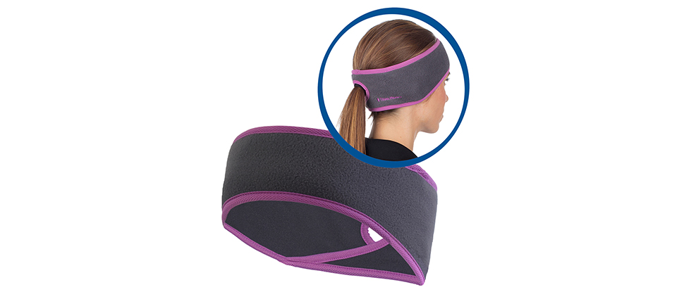 TrailHeads Ponytail Headband - charcoal / purple