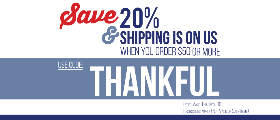 Save 20% when you shop at TrailHeads this Holiday season!