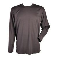 Air-Flow Mesh Performance Long Sleeve Shirt - charcoal grey