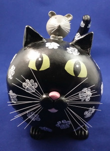Black Cat with Mouse