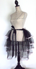 Black and Pink Tutu or Petticoat with Long Trail