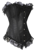 Black Old Fashioned Corset with G-String AVAILABLE IN PLUS SIZE