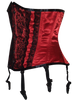 Red Satin Waist Shaper with Black Lace Detail