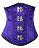 Front View of Purple Fully Steel Boned Waist Shaiper