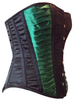 Side View Black and Dark Green Corset