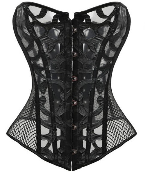 Black Fishnet Corset
