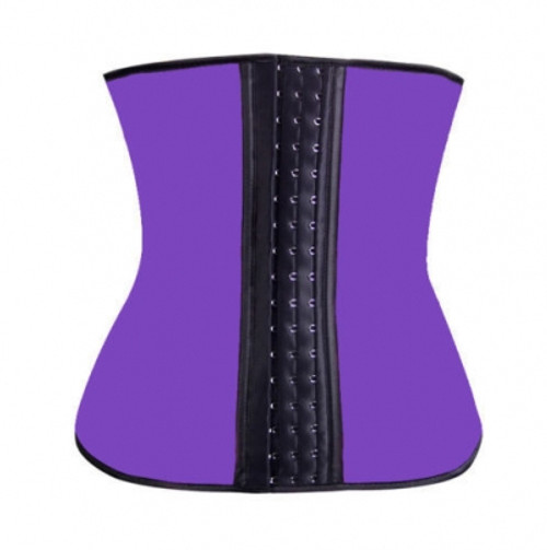 Thick Purple Latex Cincher will Smooth and shape your Waistline