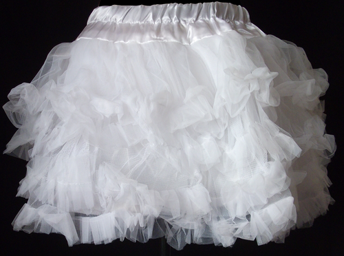 Full White Petticoat with Satin underlay