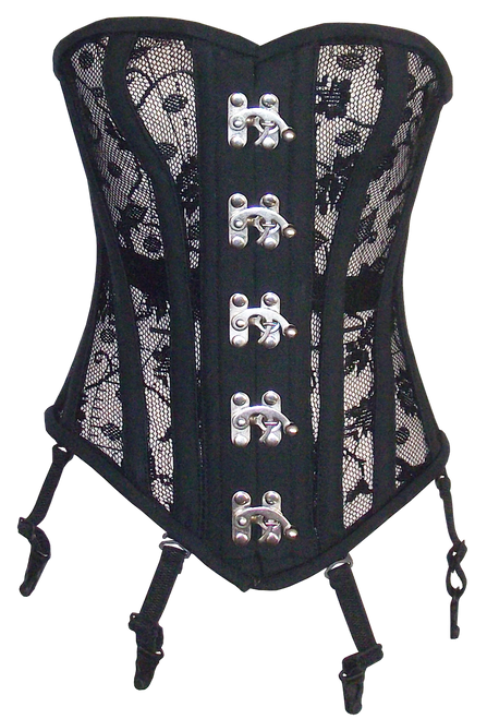 Heavy Duty Corset Top with Silver C Cup Hooks