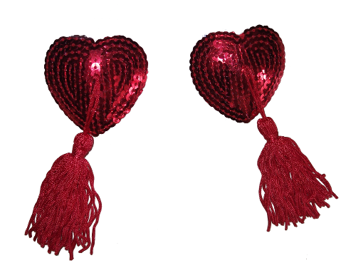 Red Heart Pasties Reusable and Great fun