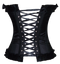 Back View of Black Corset Top.